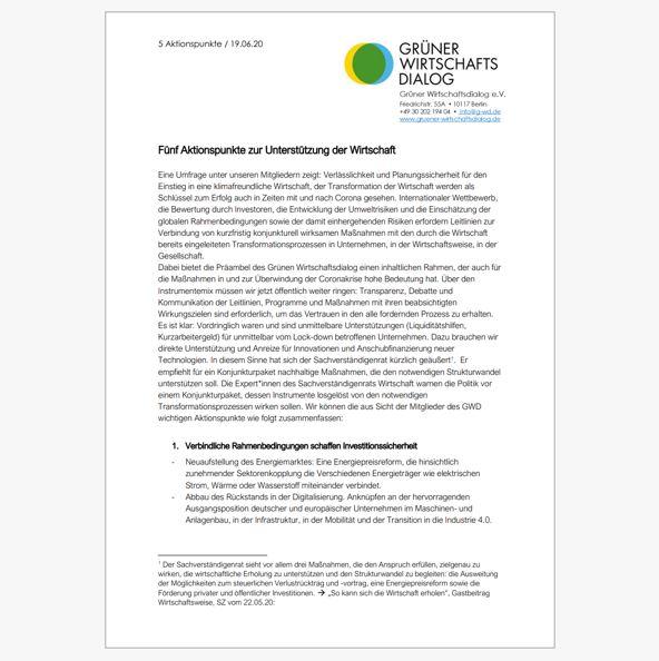 Kurzfristig konjunkturell wirksame Maßnahmen mit bestehenden Transformationsprozessen verbinden